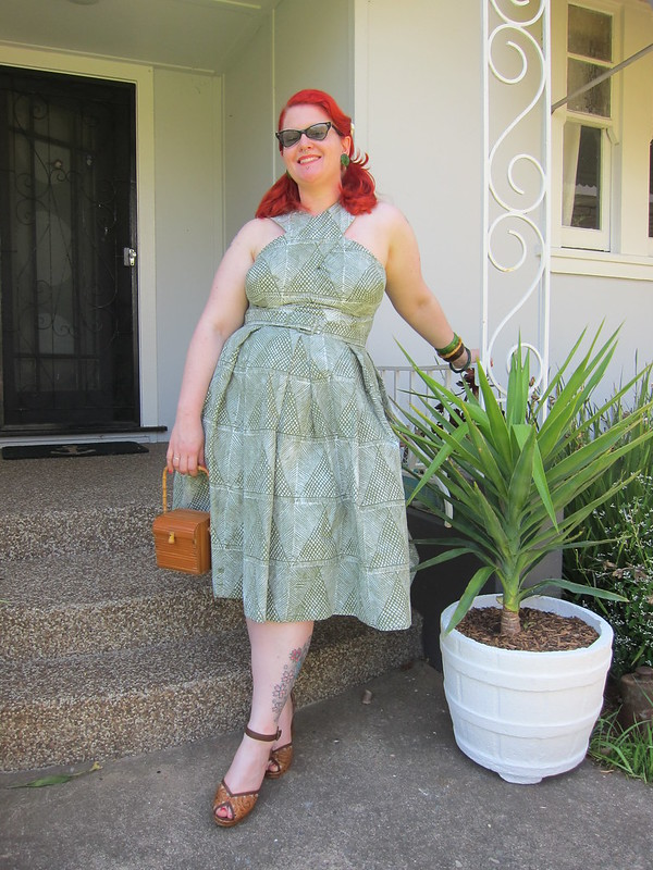 miss l fire review 1950s tiki shaheen dress vintage plus size hawaiian repro tijuana