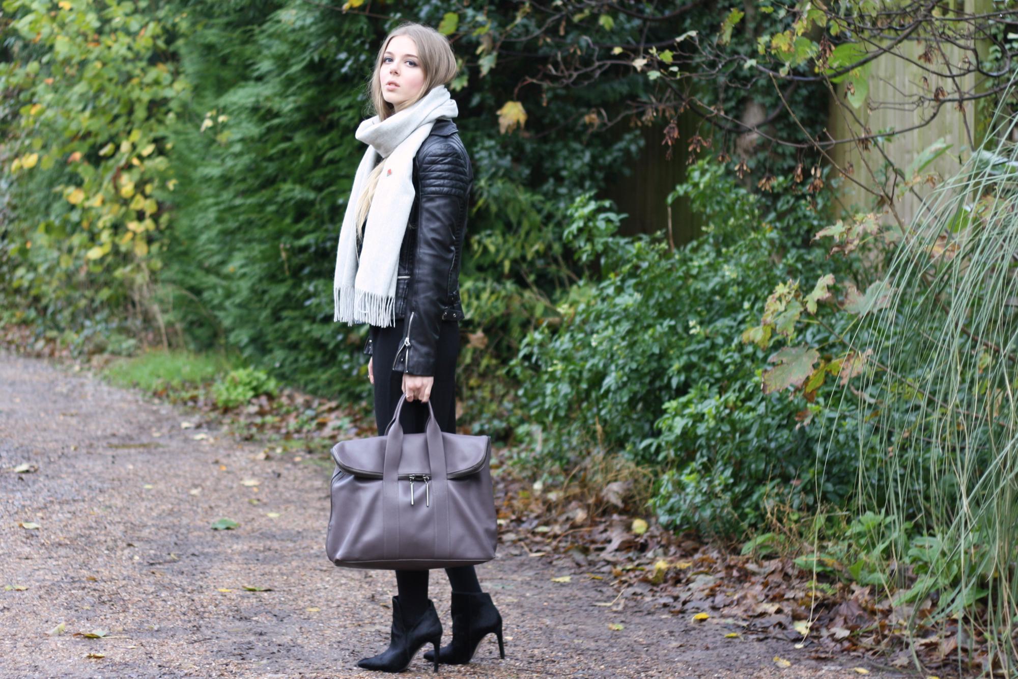 Zara ponyskin ankle boots