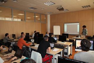 Sesión presencial del Taller de Programación Creativa y Diseño de Interactividad (Málaga, 13/11/2014)