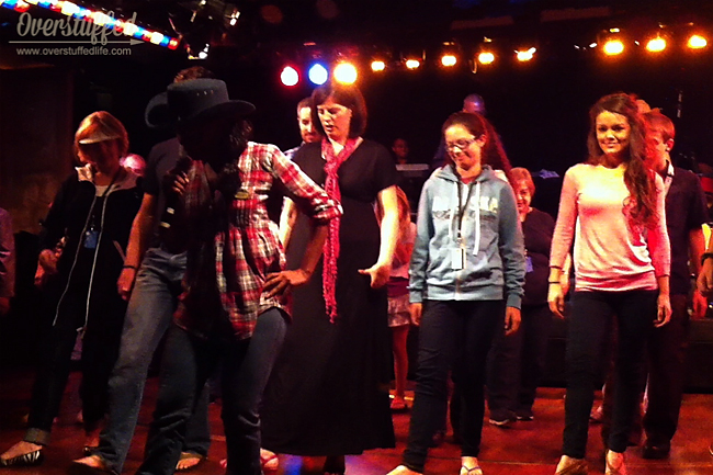 Line Dancing on the cruise