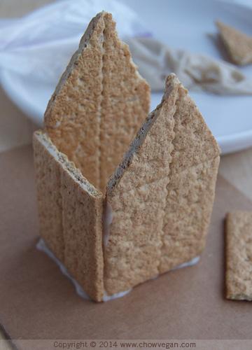 Graham Cracker Gingerbread House Step 2