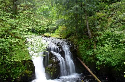 Small Rapids at the top of Multnomah Falls, Oregon