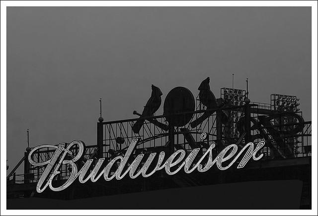 Bud Sign Busch Stadium