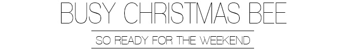 Busy christmas blogger bee