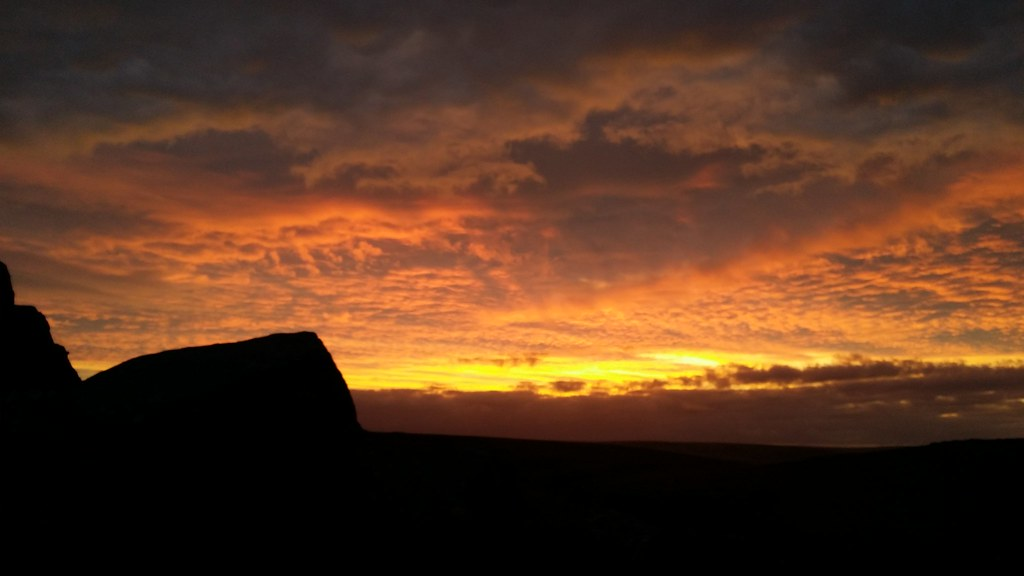 From camp, #dartmoor sunrise right now #sh