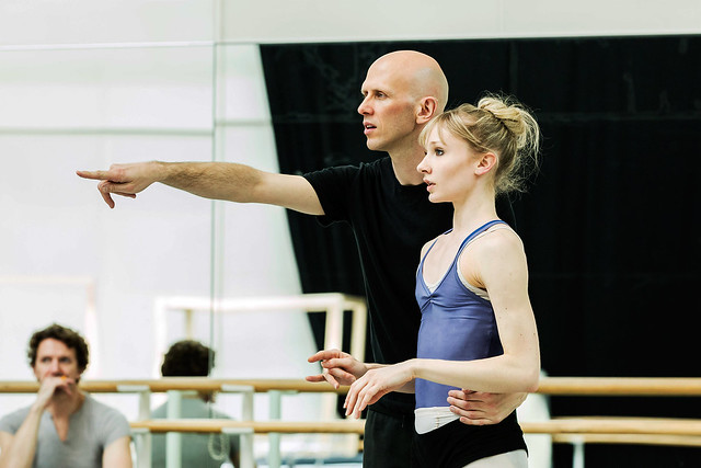 Wayne McGregor and Melissa Hamilton in rehearsals for Raven Girl © ROH/Johan Persson, 2013
