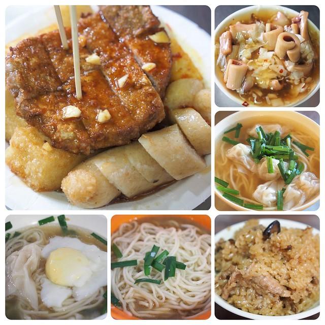 板橋黃石市場美食 ▎蘿蔔糕、糯米腸、芋粿Q、生炒魷魚、老曹餛飩、謝家肉羹