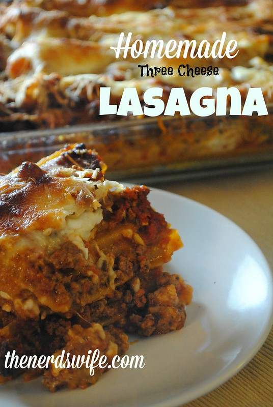 garfield worthy three cheese lasagna