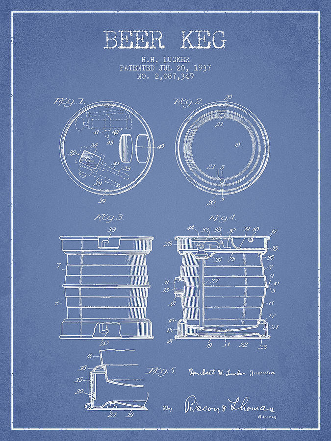 beer-keg-patent-drawing-from-1937-light-blue-aged-pixel