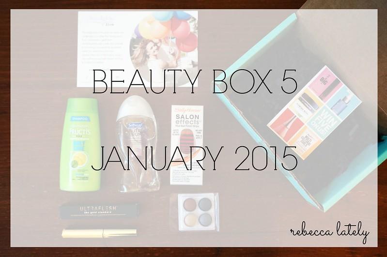 Beauty Box 5 January 2015 2