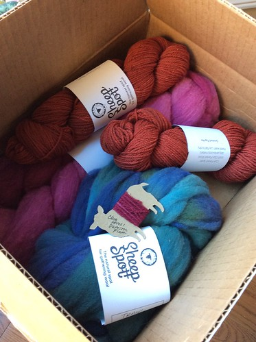 Yarn and fibre from London Ontario indie dyer Sheepspot