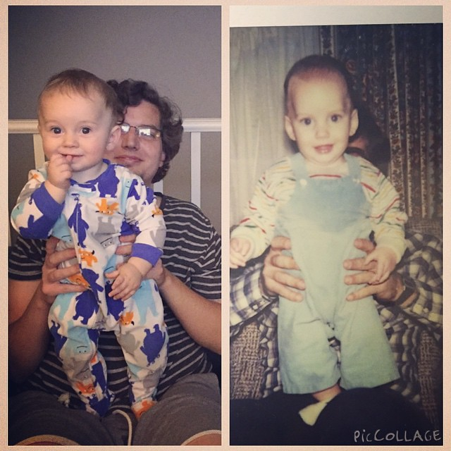 Here's a #tbt before it's too late. Ricky with arch, recreating a pic of Ricky with his dad. by bartlewife