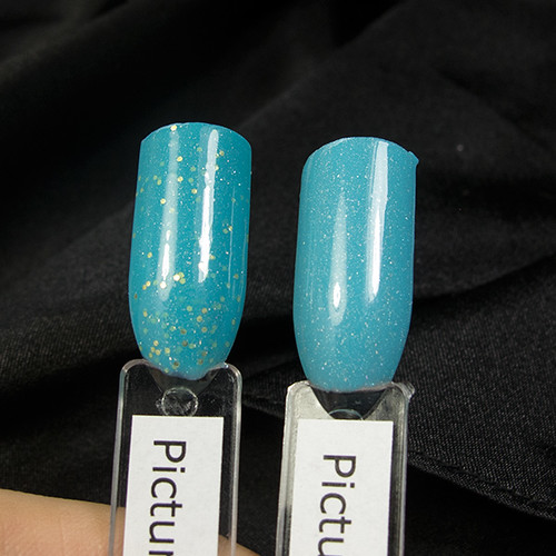 Picture Polish Fool's Gold vs. Cyan