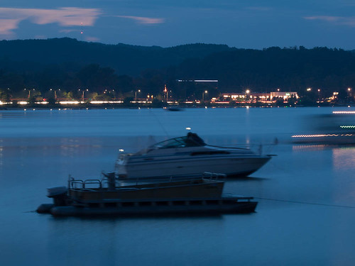 lake landscape twilight michigan traversecity grandtraversebay timeofday