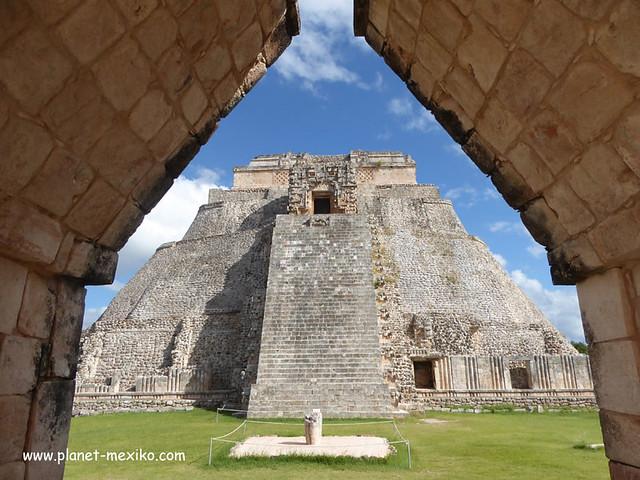Maya-Tempel Uxmal Yucatan