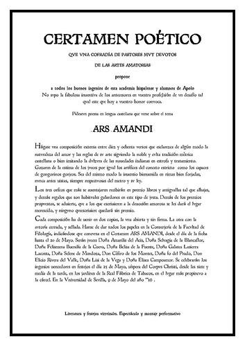 Poesía CERTAMEN-ARS-AMANDI