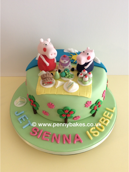 Peppa Pig Birthday Cake by Penny Grundon
