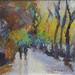 Paseo por el Parque Guell_acrílico sobre tela 45X33 cm by Magi Batet