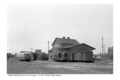 Cayeux. Railcar and loco. 17.7.62