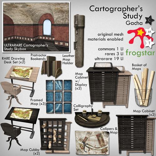 Frogstar - Cartographer's Study Gacha Poster