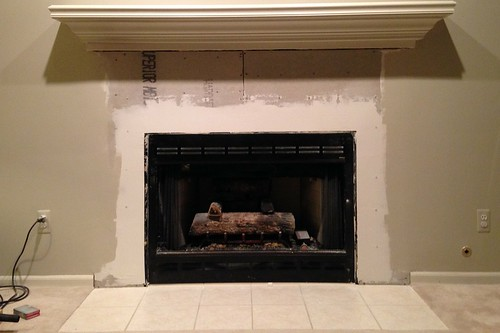 UntitledUpdate Tile Fireplace with AirStone Makeover