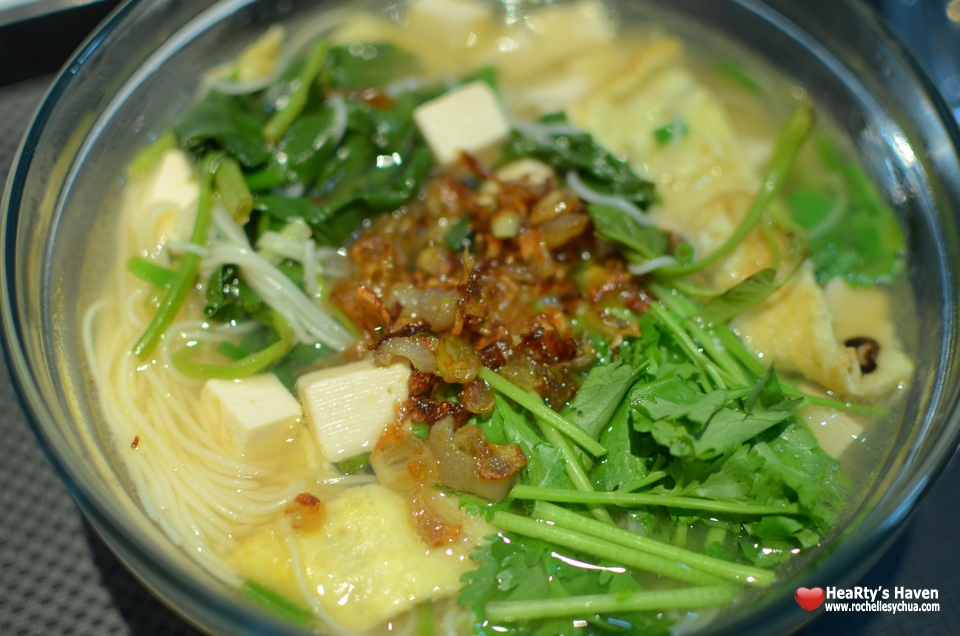 Vegetable & Tofu Misua Soup