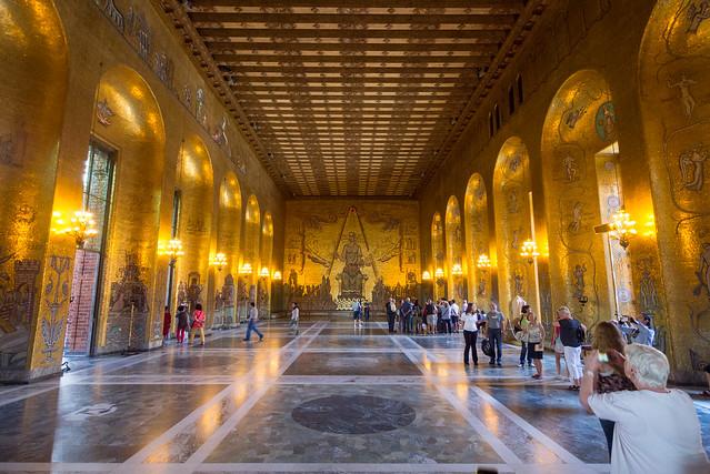 Stockholm stadshuset gyllene salen