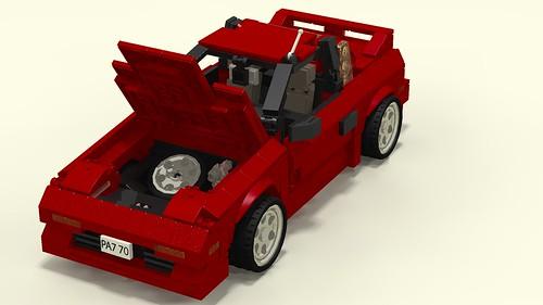 Toyota MR2 Mk1 hood open