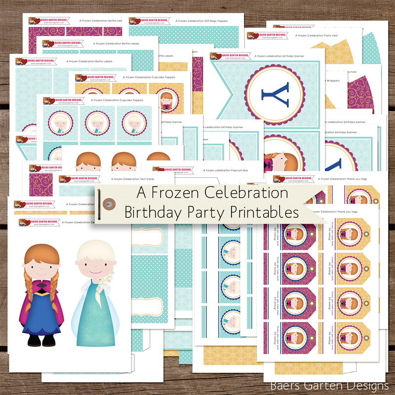 A Frozen Celebration Birthday Printables