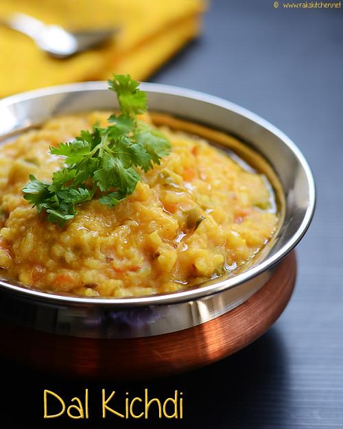 Dal khichdi recipe (Moong dal khichdi without onion, garlic)