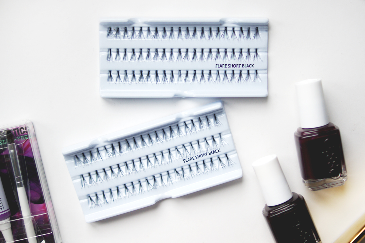 IMATS Toronto makeup beauty haul 2014 flare short black individual lashes