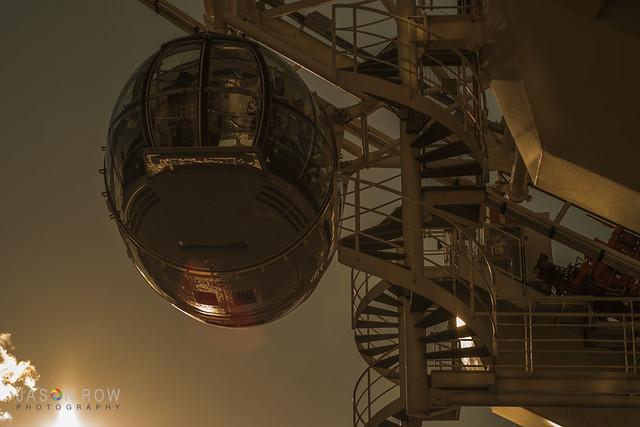 London Eye Pod at sunset
