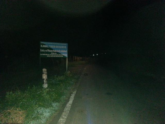 Entering Kawal Tiger Reserve