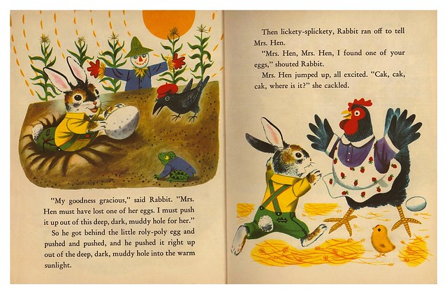 014-Rabbit and his Friends-  Escrito e ilustrado por  Richard Scarry- Copyright 1953-via goldengems.blogspot