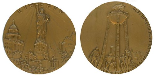 NATIONAL ASSOCIATION OF MANUFACTURERS STATUE OF LIBERTY medal