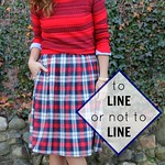 how to decide whether or not to line a skirt via Kristina J blog