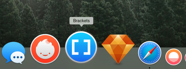 OSX Yosemite dock icons - Brackets