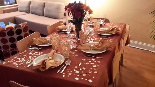 Our Thanksgiving Dinner Table
