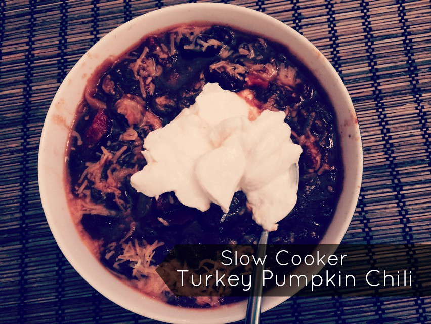 slow cooker turkey pumpkin chili