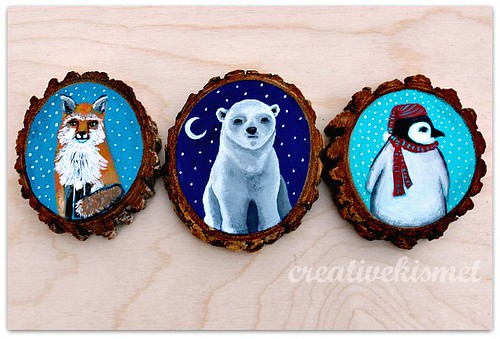 Little Animal Ornaments - Art by Regina Lord