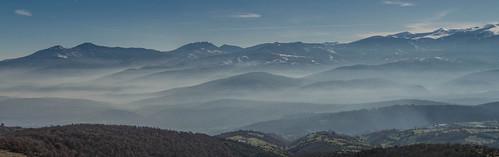 winter panorama mist mountain mountains nature fog landscape nikon pano panoramic macedonia d5100