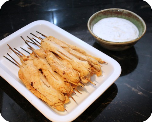 Chipotle Chicken Skewers with Creamy Dipping Sauce