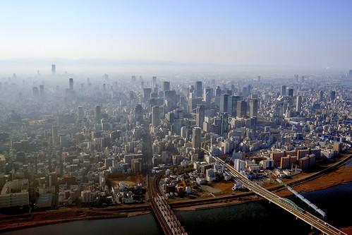 japan aerialview osaka