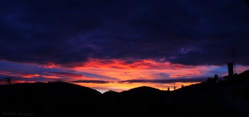 november autumn sunset cloud sun nature colors canon village hills 600d