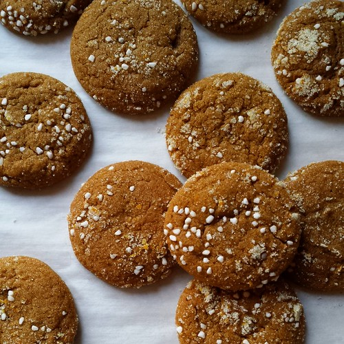 Molasses Spice Cookies with Orange Essence