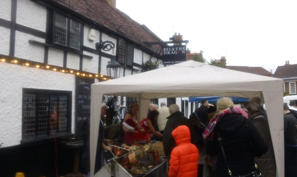 Cookham Xmas fair BBQ Outside the Bel & Dragon PH