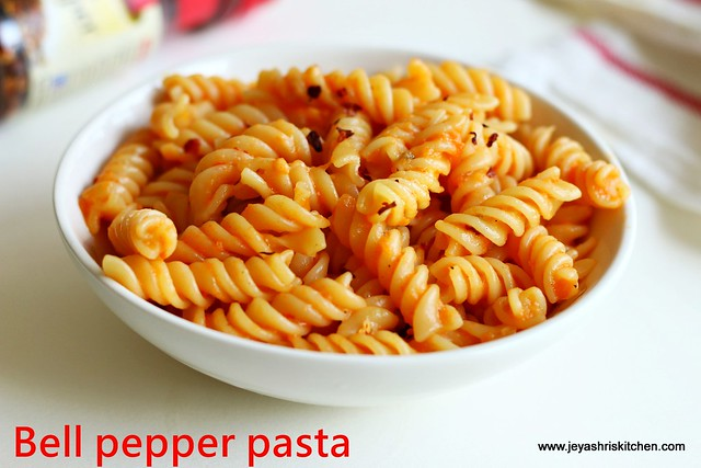 Roasted-Bell pepper pasta