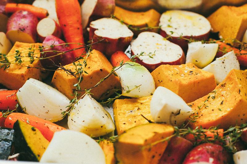 Legumes Assados com Tomilho