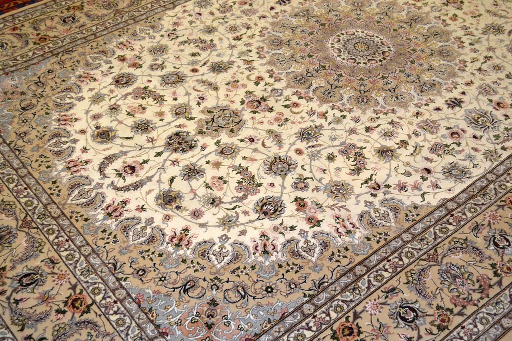 Pair Isfahan Esfahan Kaf Abrisham 7x10 persian Fine Area Rug (7)