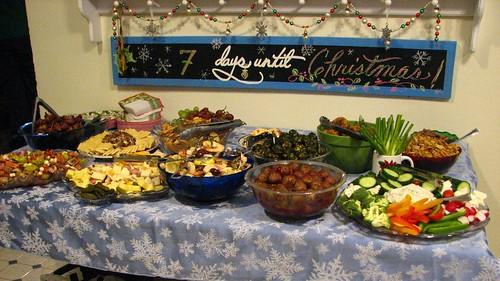 buffet of snacks